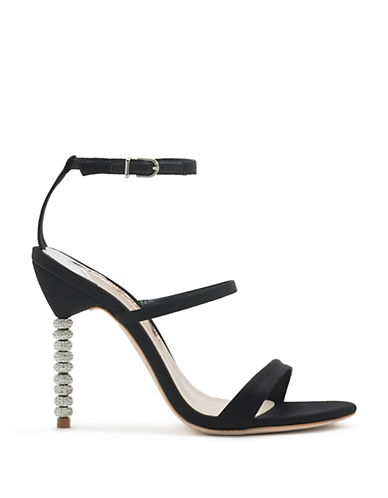 Sophia Webster Rosalind Crystal Pin-Heel Sandals-BLACK-EUR 40/US 10