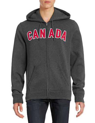 Canadian Olympic Team Collection Mens Canada Full-Zip Hoodie-CHARCOAL-Small 88050429_CHARCOAL_Small