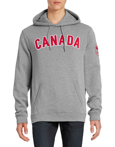 Canadian Olympic Team Collection Mens Canada Hoodie-GREY MIX-XX-Large