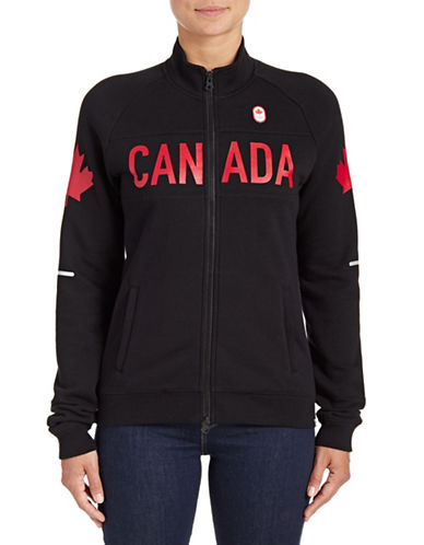 Canadian Olympic Team Collection Womens Canada Full-Zip Jacket-BLACK-Large 88050696_BLACK_Large