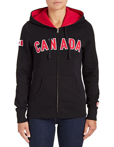 Canadian Olympic Team Collection Womens Canada Full-Zip Hoodie-BLACK-X-Large 88050702_BLACK_X-Large