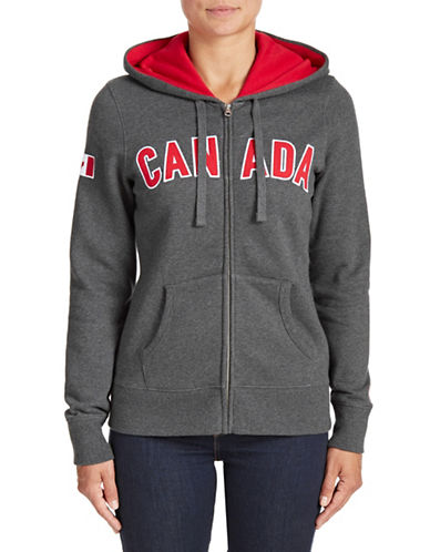 Canadian Olympic Team Collection Womens Canada Full-Zip Hoodie-CHARCOAL-Medium 88050705_CHARCOAL_Medium