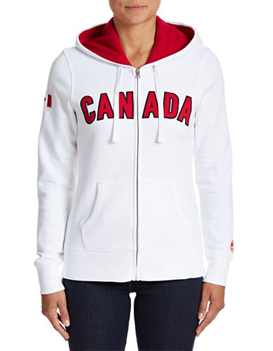 Canadian Olympic Team Collection Womens Canada Full-Zip Hoodie-WHITE-X-Large 88050712_WHITE_X-Large
