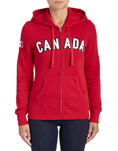Canadian Olympic Team Collection Womens Canada Full-Zip Hoodie-RED-X-Large 88050722_RED_X-Large