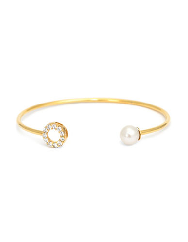 Mejuri Pearl Detailed Bracelet-GOLD WHITE-One Size