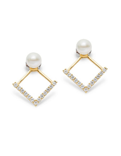 Mejuri Pearl Detailed Drop Earrings-WHITE-One Size