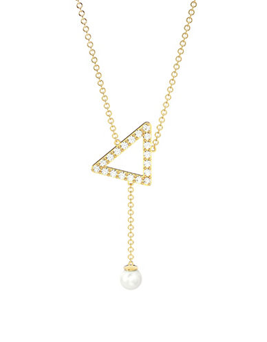 Mejuri Pearl Detailed Necklace-GOLD WHITE-One Size