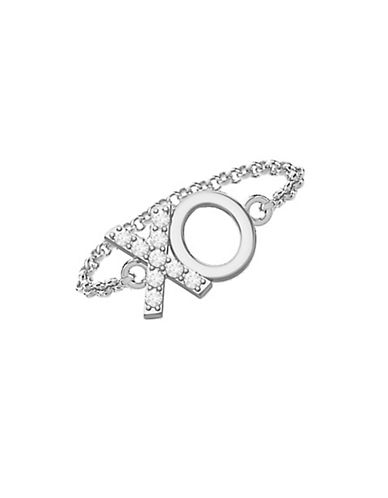 Mejuri 18k Yellow Gold XO Chain Ring-SILVER-8