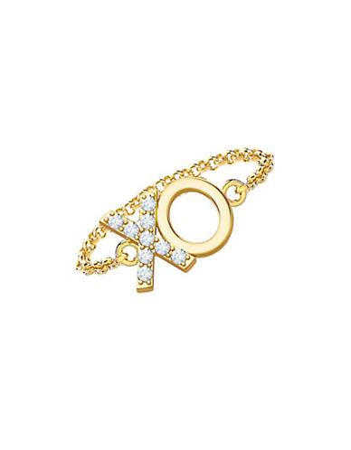 Mejuri 18k Yellow Gold XO Chain Ring-GOLD-6
