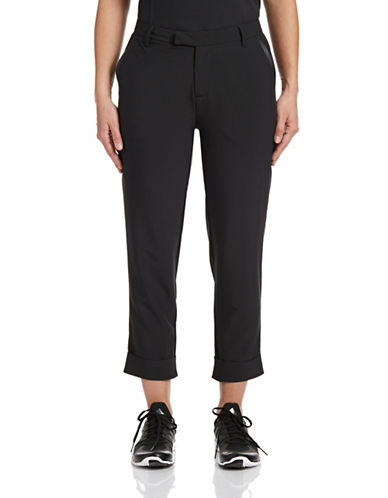 Golf Canada Womens Cuffed Capri Pants-BLACK-2 88076686_BLACK_2