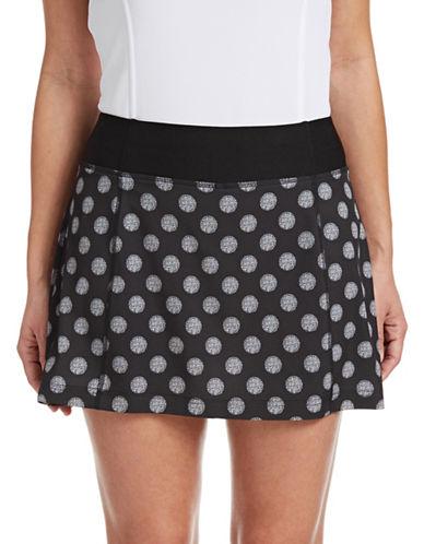 Golf Canada Womens Ruffled Polka Dot Skort-BLACK-Large 88076702_BLACK_Large