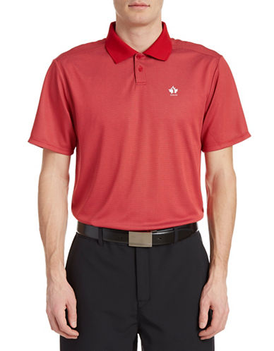 Golf Canada Core Dot Stripe Polo-RED-Small 88089561_RED_Small