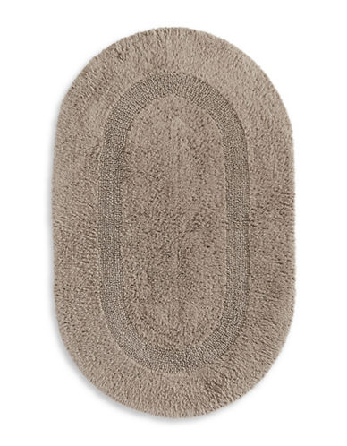 Glucksteinhome Reversible Oval Bath Mat-TAUPE-One Size