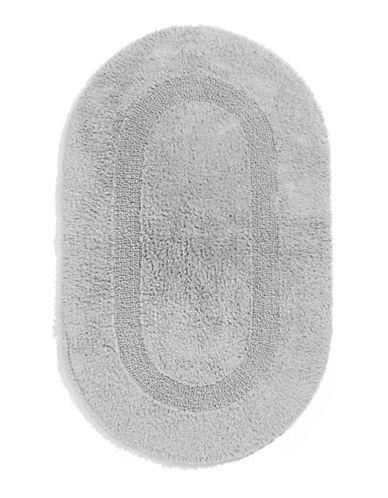 Glucksteinhome Reversible Oval Bath Mat-LIGHT GREY-One Size
