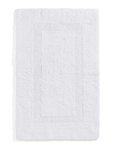 Glucksteinhome Reversible Large Rectangular Bath Mat-WHITE-24X40