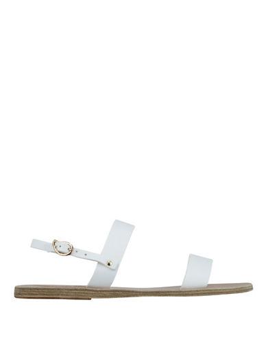 Ancient Greek Sandals Clio Platinum Leather Sandals-WHITE-EUR 36/US 6