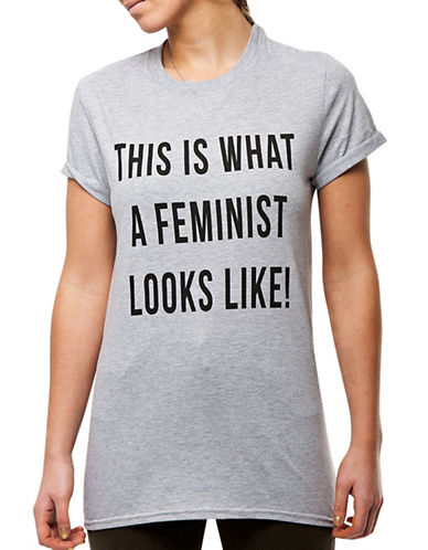 Adolescent Clothing Feminist T-Shirt-GREY-X-Small 88171193_GREY_X-Small