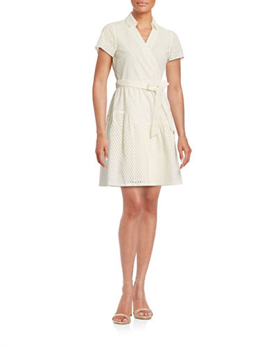 Diane Von Furstenberg Self-Tie Wrap Eyelet Dress-IVORY-10
