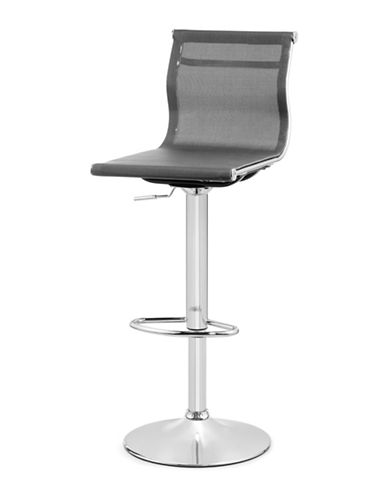 Distinctly Home Reuben Gas Lift Bar Stool-SILVER-One Size