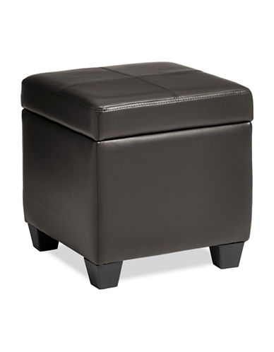 Home Studio Cube Storage Ottoman-BROWN-One Size