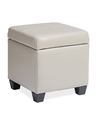 Home Studio Cube Storage Ottoman-TAUPE-One Size