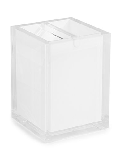 Glucksteinhome Acrylic Toothbrush Holder-WHITE-One Size