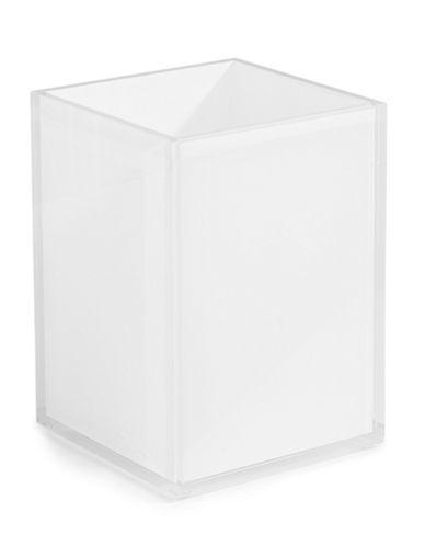 Glucksteinhome Acrylic Waste Bin-WHITE-One Size