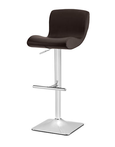Distinctly Home Lesley Gas Lift Bar Stool-BROWN-One Size