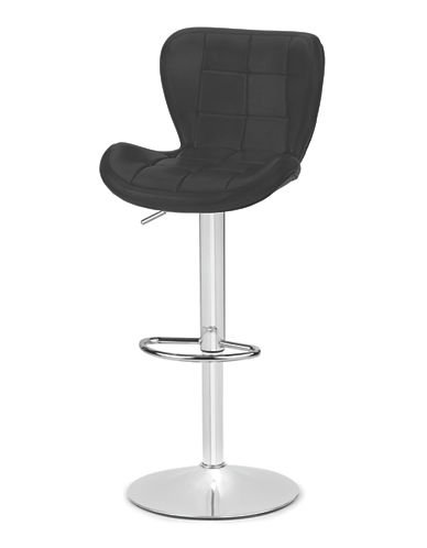 Distinctly Home Tori Gas Lift Bar Stool-BLACK-One Size