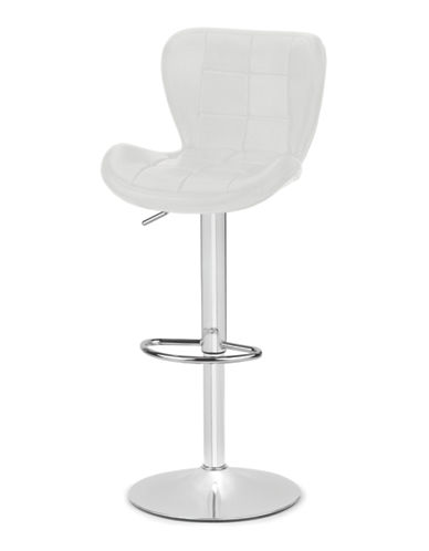 Distinctly Home Tori Gas Lift Bar Stool-WHITE-One Size