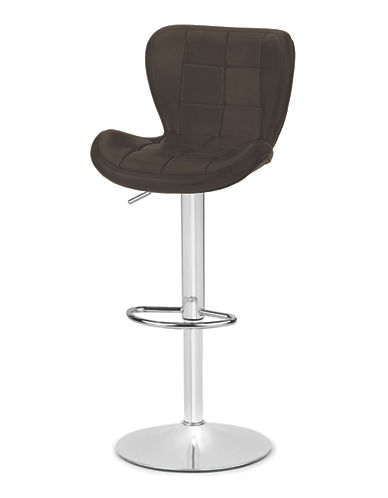 Distinctly Home Tori Gas Lift Bar Stool-BROWN-One Size