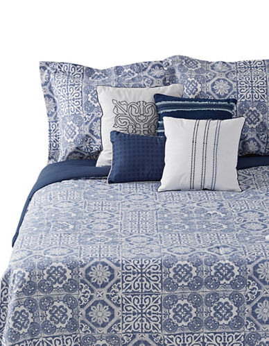 Home Studio Eros Seven-Piece Comforter Set-BLUE-Queen