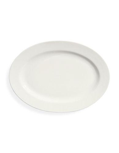 Glucksteinhome A La Carte Porcelain Oval Platter-WHITE-One Size