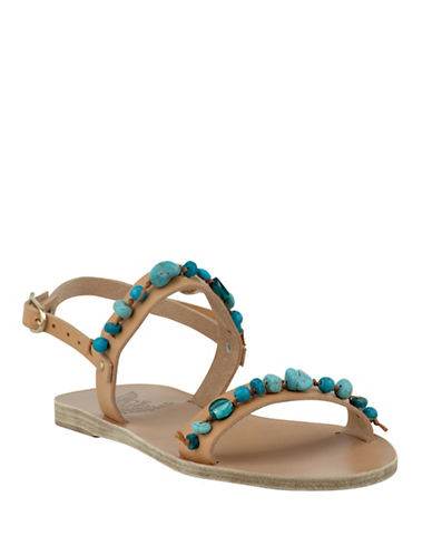 53aa73a21b9 Ancient Greek Sandals Clio Stones Leather Sandals In Blue