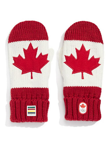 Canadian Olympic Team Collection Adult Red Mittens-RED-Small/Medium