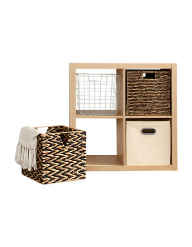 Distinctly Home Foldable Water Hyacinth Crate-NATURAL-One Size