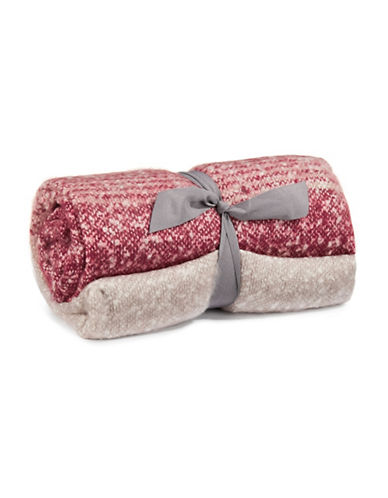 Glucksteinhome Faux Mohair Throw-WINE-One Size