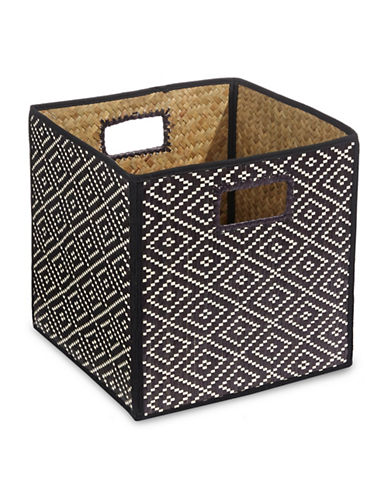 Distinctly Home Foldable Palm Crate-BLACK-One Size