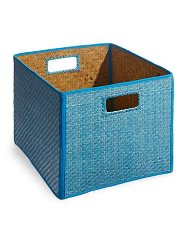 Distinctly Home Foldable Palm Crate-BLUE-One Size