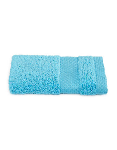 Dh Plush Textured Washcloth-CYAN BLUE-Washcloth