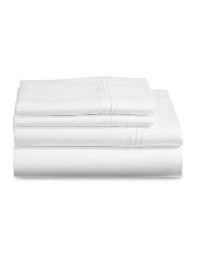Glucksteinhome Essex Four-Piece Sheet Set-WHITE-King