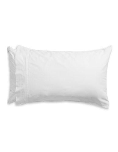 Glucksteinhome Essex Two-Piece Pillowcase Set-WHITE-Standard