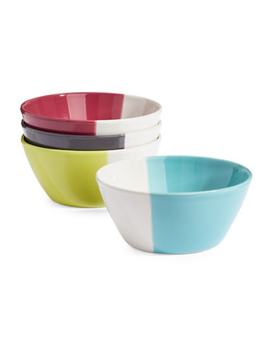Distinctly Home Four-Piece Hand-Dipped Bowl Set-MULTI-One Size