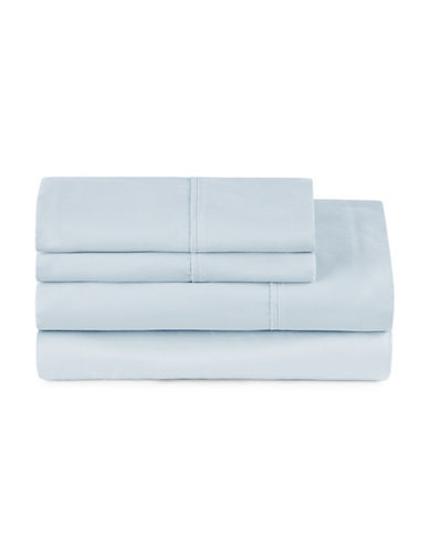 Distinctly Home Four-Piece 400 Thread-Count Egyptian Cotton Sheet Set-BLUE-Twin