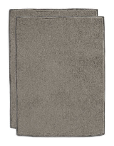 Essential Needs Set of Two Drying Mats-GREY-One Size