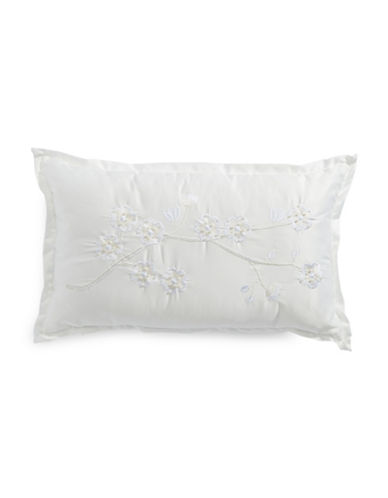 Glucksteinhome Summer Palace Embroidered Accent Cushion-WHITE-12x20
