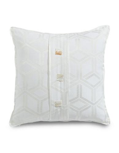 Glucksteinhome Summer Palace Geo Pattern Cushion-WHITE-16X16