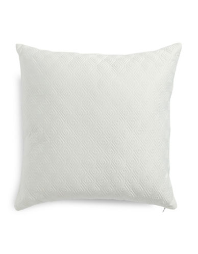 Glucksteinhome Summer Palace Quilted Cushion-WHITE-18x18