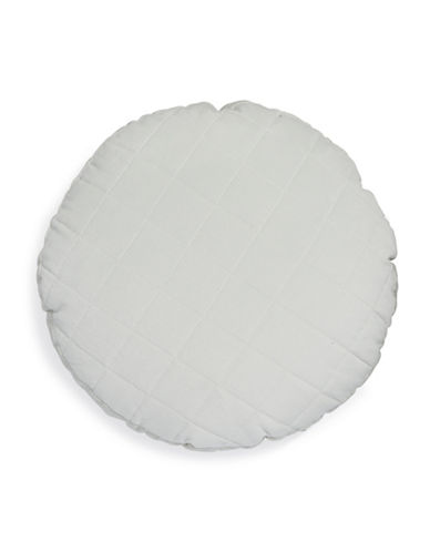Distinctly Home Madrid Quilted Round Cushion-GREY-16X16