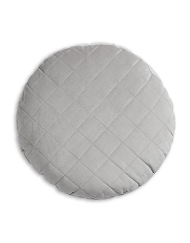 Distinctly Home Madrid Round Quilted Cushion-GREY-16X16